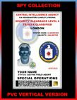 CIA...Central Intelligence Agency...   SPY ID COLLECTOR CARD