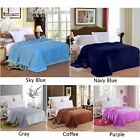 Fleece Heated Electric Throw Rug Snuggle Blanket Winter Bedding Blue Gray US image