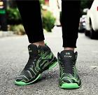 Mens Mixed Color High Top Casual Sneakers Lace Up Running Sports Shoes Athletic