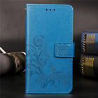 Four-leaf clover Stand Leather Card Wallet Magnetic Case Cover For Various Phone