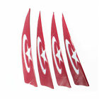 "20/50pcs 4"" Arrow Vanes Turkey Country Flag Feather Colorful Fletching Hunting"