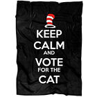 The Cat In The Hat Child Story Soft Fleece Throw Blanket, Keep Calm And Voted