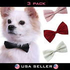 3X Dog Bowtie Adjustable Pet Collar Formal Bow Tie Tuxedo Puppy Cat Kitty Leash