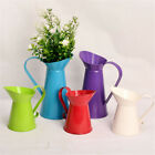5 Colors Vintage Shabby Chic Flower Vase Pitcher Jug Metal Wedding Home Decor