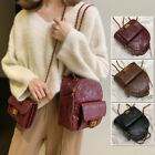 Convertible Faux Leather Small Mini Backpack Shoulder bag Chain Purse 2 pcs Set