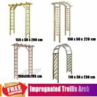Impregnated Wooden Arbour Rose Trellis Arch For Garden Climbing Flower Plant
