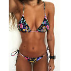 Damen Bikini Set Padded Push up Badeanzug Schwimmanzug High Waist Bademode Suit