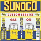 SUNOCO WAYNE BLEND O MATIC GAS PUMPS WALL MURAL SIGN BANNER ART VARIOUS SIZES