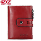Men Women Genuine Leather Cowhide Wallet Trifold Credit Card ID Holder Purse New