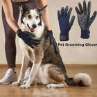 1Pair Pet Dog Cat Horse Grooming Hair Remover Bathing Shedding Combing Gloves OD