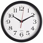 Bernhard Products Black Wall Clock, Silent Non Ticking - 10  Assorted Sizes