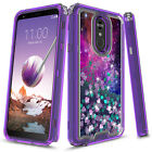 For LG Stylo 4 / LG Stylo 4 Plus 3in1 Hybird Graphic Quicksand Glitter Case