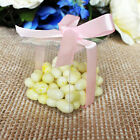 """25/50/100/200 Clear 2"""" 3"""" PVC Plastic Wedding Party Baby Shower Favor Craft Box"""