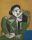 Pablo Femme Assise Dan by Pablo Picasso Art Print Poster Museum Multi Size