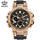 SMAEL Men Gold Watches Fashion Digital LED Wristwatch Big Face Male Quartz Watch image