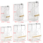 Auto Clear Acrylic Cage Food Feeder Single/Double Hopper For Parrot Bird Finches
