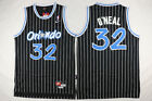 2019 Shaquille O'Neal #32 Orlando Magic Black White Striped Throwback Jersey on eBay