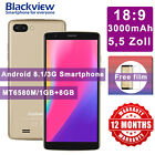 "Blackview 3g 2 Sim 8 Gb 5.5"" Unlocked Quad Core Android 8.1 Mobile Smart Phone"