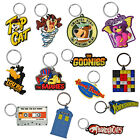 Retro Novelty Keyrings. Cool Funky TV Film PVC Enamel Keychain Ideal Small Gift
