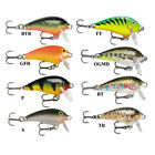 Rapala® Mini Fat Rap 3cm-4g / 0.9–1.8m Fishing Lure Predator Various Colours