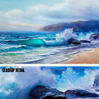 """36W""""x24H"""": BLUE TROPICAL SEA by PIERRE LOMBARDI - OCEAN WAVES CHOICES of CANVAS"""