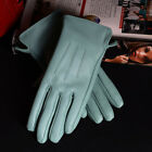 New Womens 100 Real Leather Sheepskin Winter Warm Blue Short Gloves Nine Colors
