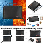 Fireproof Document Bag Silicone Coated Fiberglass Waterproof Money Pouches A8J4