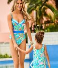 New Lilly Pulitzer Kids Girls UPF 50 LITTLE LILLY SWIM Bennet Blue Surf Gypsea 8
