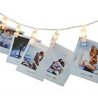 battery led light string photo clip lamp holiday party picture card fairy lights