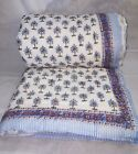 New Indian Palm tree quilt hand block print jaipuri razai Queen size Quilt Lot image