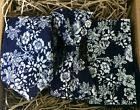 Navy Blue Wool Mens Tie  Bow Tie and Pocket Square  Weddings & Groomsmen Gifts