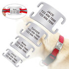 """Personalized Dog Slide On Tags No Noise Name Tags for 1/4""""-1.0"""" Collars Silencer"""