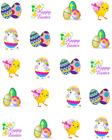 Easter Eggs Waterslide /Water Transfer Nail Decals/Nail art