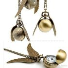 Harry Potter Snitch Watch Necklace Steampunk Quidditch Pocket WATCH 4 STYLES USA image