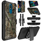 For LG Aristo 3/4+ Plus/Tribute Empire Case Holster Clip Stand Rugged Hard Cover