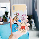 For iPhone 6-XS Max Hot Lovely Winnie the Pooh Frosted UNBreak Phone Case Cover