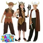 Kids Viking Girls Boys Costume Saxon Warrior Kit Historical Book Day Fancy Dress