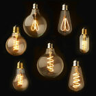 E27 Regulable Retro Vintage Flexible LED Edison espiral filamento bombilla