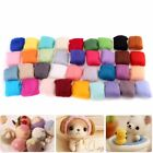 Wool Roving Needle Felting Spinning Felt Natural Mat Starter DIY Tool Set Kit