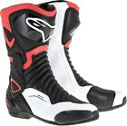 Alpinestars SMX-6 V2 Vented Motorcycle Boots BLACK RED WHITE SHIPS FREE