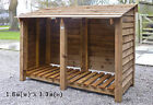 Log Stores. Pressure treated, fully assembled. Specialists in custom sizes