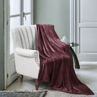 Luxe Manor 50x60 Inch Ultra Soft Flannel Fleece Throw Blanket image