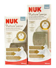 NUK NATURE SENSE BIBERON IN VETRO 120 ML O 240 ML TETTARELLA IN SILICONE