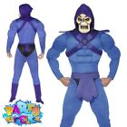 Mens He-Man Skeletor Masters of the Universe Costume 80s Adults Fancy Dress