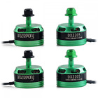 DroneAcc 4pcs DX2205 2300KV Brushless Motor 2CW 2CCW 2-4S Racing Edition Green f