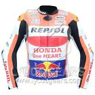 Marc Marquez Honda Repsol Motorbike Racing Leather Jacket Cowhide Leather