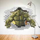 3D Cartoon Art Wall Sticker The Incredible HULK Boy Room Kids Art Decal Mural