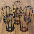 Industrial Vintage Antique Metal Wire Bulb Cage Guard Lampshade Trouble Light !
