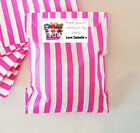 24 x Personalised Sweets Paper Candy Bags & Children's Party Thank You Stickers