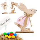 Home Wooden Rabbit Easter Decoration Bunny Ornaments Party Accessories Gift Mini